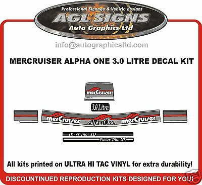 3.0 Litre LX Mercury Alpha One Decal Kit Mercruiser reproduction sticker decals