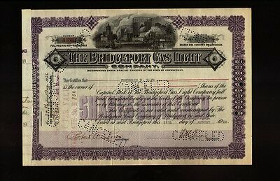 THE BRIDGEPORT GAS LIGHT COMPANY CONNECTICUT CT  dd 1926 iss Frederic Tate
