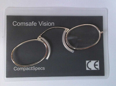 Metal Frame Compact Specs Reading Glasses Pince Nez type for any emergency +1.50