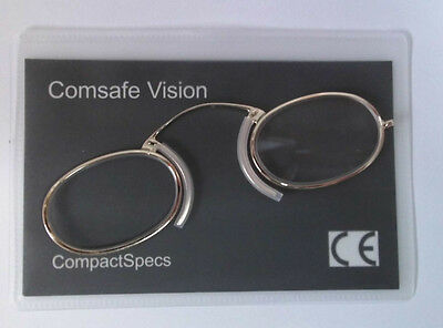 Metal Frame Compact Specs Reading Glasses Pince Nez type for any emergency +2.00