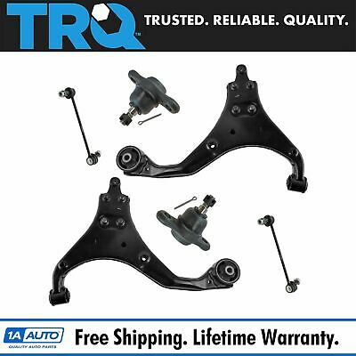 TRQ 8 Piece Kit Ball Joint Tie Rod End Sway Bar Link for 07-08 Elantra New