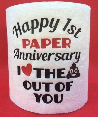 First 1St Paper Anniversary Love The Krap Out Of You Gag Gift~Toilet~Poop Emoji