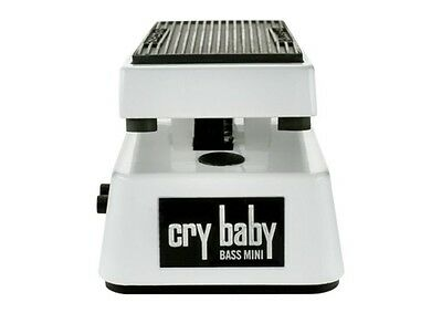 JIM DUNLOP Bass Cry Baby Mini Wah Guitar Effects Pedal *NEW* White