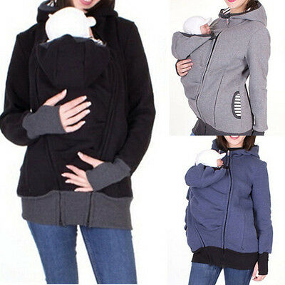 Jacket Kangaroo Winter Maternity Outerwear Coat for Pregnant Women Baby Carrier