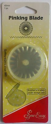 Sew Easy Pinking Blade For 45Mm Rotary Cutter Sewing Quilting Cutting