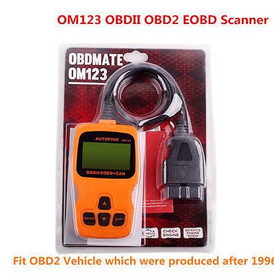 EOBD OBDII OBD2 Auto Diagnostic Scanner Car Engine Fault Code Reader Tool OM123