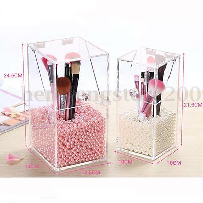 Clear Acrylic Cosmetic Organizer Makeup Brush Case Storage Box Display Holder