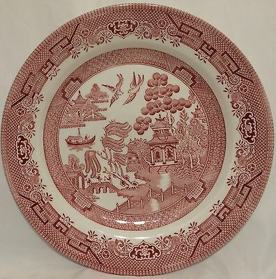 Churchill Rosa Pink Willow Dinner Plates - Set of 2 - Excellent