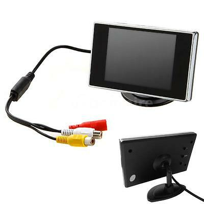 """3.5"""" HD Car Color TFT LCD Rearview Monitor For Reverse Camera DVD VCD 12V E7A8"""