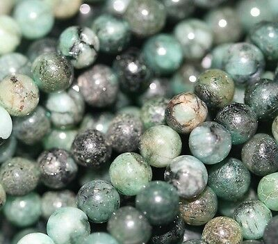 "14"" St Natural Untreated Emerald  Round Beads 5mm Gems"