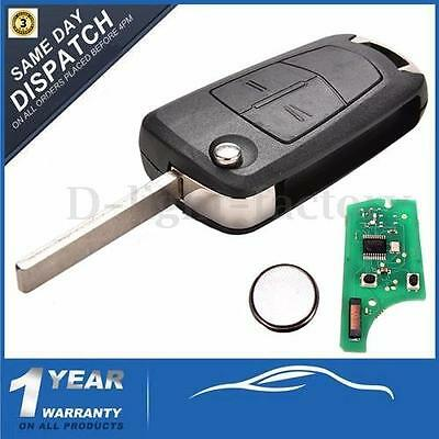433Mhz 2 Button Flip Remote Key Fob For Vauxhall Opel Corsa Astra H Zafira B