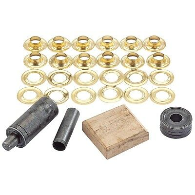 DRAPER Brass 10mm Eyelet/Grommet Repair Kit/Set For Tarpaulin Leather Tent 85665