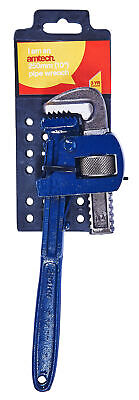 """New 10"""" 250mm Pipe Wrench Adjustable Drop Forged Heat Treated Serrated Jaws"""