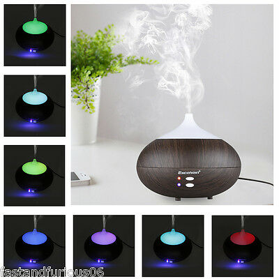 280ml Aroma Diffuser Ultrasonic Humidifier Aromatherapy Purifier White Led Color