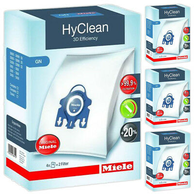 MIELE Genuine Vacuum Cleaner Dust Bags GN Hyclean C2 C3 Cat & Dog Ecoline 4 Box