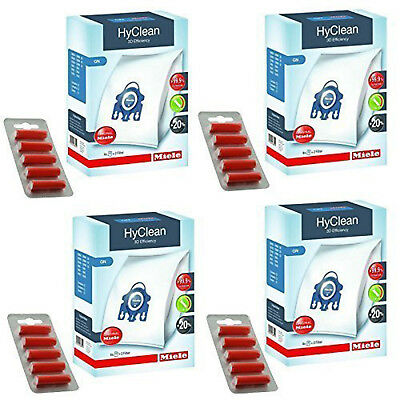 MIELE Vacuum Hoover Bags GN Hyclean & Filters Genuine Fresheners Classic C1 4 x