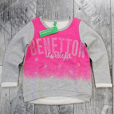 United Colors Of Benetton Hoodie Gr. 98 104 Pullover Shirt Grau Rosa D054