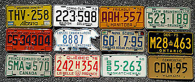 Set CANADA License Plates - 12 Provinces & Territories - Tags Lot - VINTAGE Set
