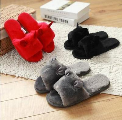 Hot Sale Women Shoes Cotton Slippers Cute Fur Furry Indoor Casual Winter Fashion