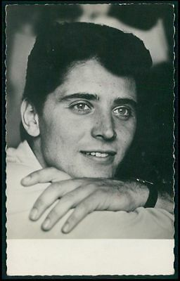 Sacha Distel rock singer music original old from c1920-1950s photo postcard