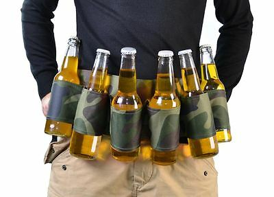 Beer Belt Six Pack Camouflage Party Stag Do Drinking Game Can & Bottle Holder