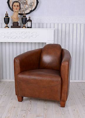 French Chair Club Chair Art Deco Lounge Chair Real Leather Cocktail Chairs