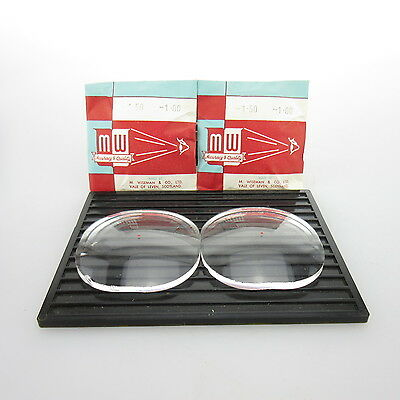 2x M.Wiseman Ø 52x52mm  | sph. -1,5 | cyl. -1,0 | spectacle lens / Linsen