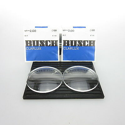 2x Busch Clarlux Ø 60mm  | sph. -2,00 | cyl. - | spectacle lens / Linsen