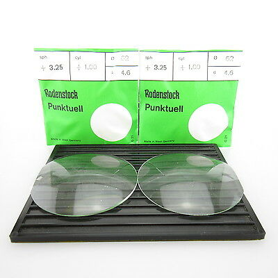 2x Rodenstock Punktuell Ø 62mm  | sph. +3,25 | cyl. +1,00 spectacle lens
