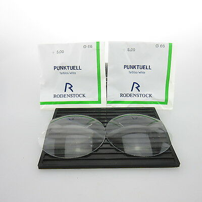 2x Rodenstock Punktuell Ø 66mm  | sph. +5,00 | cyl. - | spectacle lens