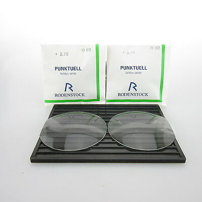 2x Rodenstock Punktuell Ø 62mm  | sph. +3,75 | cyl. - | spectacle lens / Lins