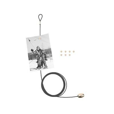 KIKKERLAND Cable Photo and Card Holder with 8 Magnets BLACK holds 8 photos MH35