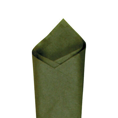 """24 Sheets / Pack 20"""" x30"""" Olive (Green) Premium Grade Color Tissue Paper"""