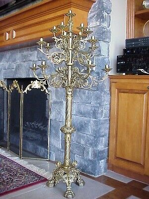 Antique 19 Candle Church Candelabra Or Candle Chandelier From France