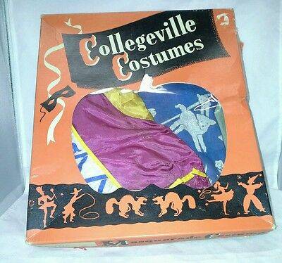 Collegeville Costume Masquerade Halloween Little Bo Peep Small 4-6 Vtg 1960s USA