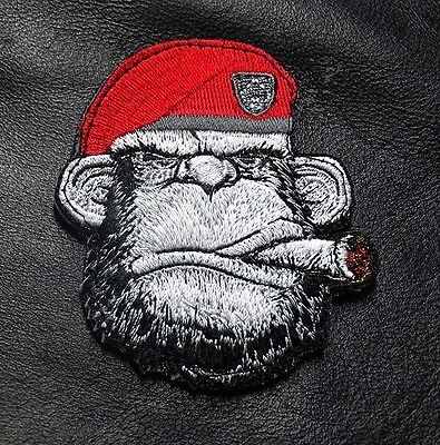 Ape Cigar Beard Ranger Monkey Tactical Embroidered Ape Morale  Hook Loop Patch