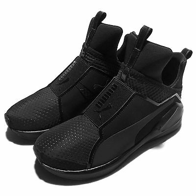 Puma Fierce Quilted Triple Black Womens Cross Training Shoes Trainers 189418-01