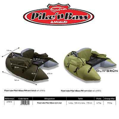 AMIAUD Deluxe  Belly Boat - Float Tube in Olive Grün