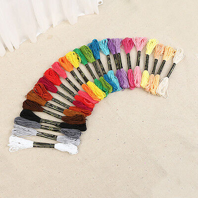 DIY 50X Hand Cross Stitch Thread Embroidery Floss Sewing Skeins 100% Cotton Line
