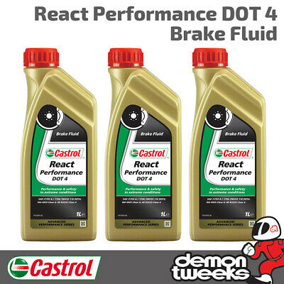 Castrol React Racing / Track Performance Synthetic Brake Fluid - 3 Litres (3L)