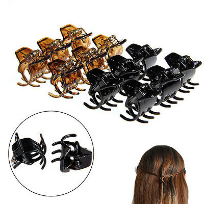 Women Girls 12 Pcs Hair Accessory Styling Plastic Mini Clip Claw Clamp