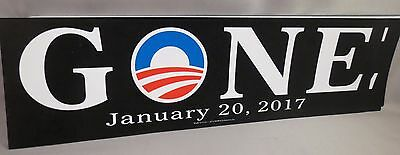 Wholesale Lot Of 20 Anti Obama Gone Last Day 01/20/17 Stickers Trump January 20