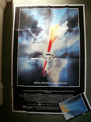 """SUPERMAN THE MOVIE"" - Large Cinema Poster - Professionally folded flat - NEW"