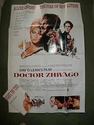 """""""DOCTOR DR ZHIVAGO"""" - Large Film Poster (40"""" x 27"""") Professionally Folded - NEW"""