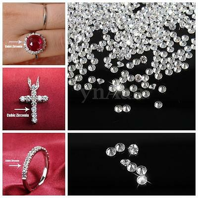1000pcs 2mm Round AAA Loose Clear Cubic Zirconia Stone Jewellery Ring Pendants