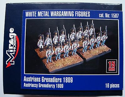 MIRAGE HOBBY®  Austrians Grenadiers 1809 Zinn Figuren in 15mm