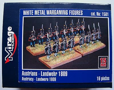 MIRAGE HOBBY®  Austrians Landwehr 1809 Zinn Figuren in 15mm
