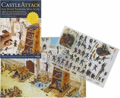 New Castle Attack Siege Scene Rub Down Transfer Activity Pack. Westair