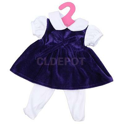 Cute Purple Bow Dress Clothing for 18inch American Girl Our Generation Doll