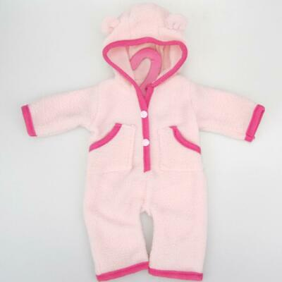 """Hooded One Piece Pajamas PJS for 18"""" American Girl Our Generation Doll Pink"""